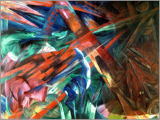 Acrylglas print  Animal fates (the trees showed their rings, the animals their veins) - Franz Marc