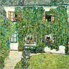 Hout print  Forester's house in Weissenbach on Attersee lake - Gustav Klimt
