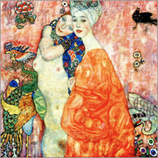 Acrylglas print  The Girlfriends - Gustav Klimt