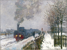 Gallery print  De trein in de sneeuw - Claude Monet