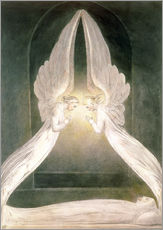 Muursticker Christ in the Sepulchre, Guarded by Angels