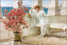 Muursticker  Her eyes are with her thoughts and they are far away - Lawrence Alma-Tadema