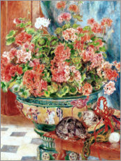 Premium poster Geraniums and Cats