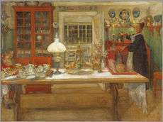 Gallery print  Getting Ready for a Game - Carl Larsson