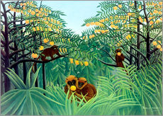 Gallery print  Apes in the Orange Grove - Henri Rousseau