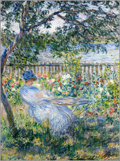 Muursticker  La Terrasse (The Terrace) - Claude Monet