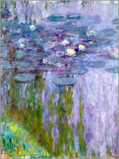 Muursticker  Waterlilies - Claude Monet