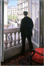 Muursticker  Man at the Window - Gustave Caillebotte