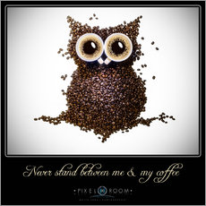 Gallery print  never stand between ma & my coffee - Mario Benz