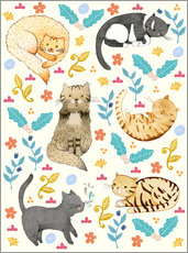 Gallery print  Cat family II - Judith Loske