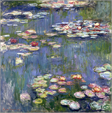 Muursticker  Waterlelies - Claude Monet