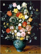 Gallery print  Bouquet in a blue vase - Jan Brueghel d.Ä.