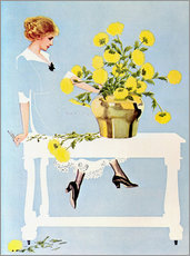 Gallery print  Housekeeper with bouquet - Clarence Coles Phillips