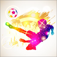 Gallery print  Soccer player - TAlex