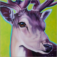 Muursticker  deer green - Renate Berghaus