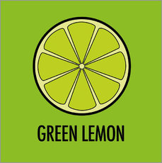 Muursticker Green Lemon Juice