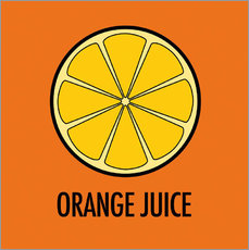 Muursticker Orange Juice