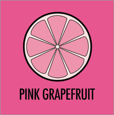 Muursticker Pink Grapefruit Juice