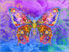 Gallery print  Blue Butterfly Floral - Alixandra Mullins