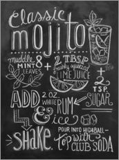 Gallery print  Mojito recept (Engels) - Lily & Val