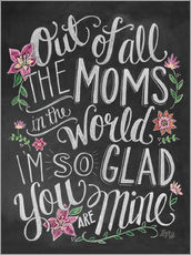 Gallery print  The best mom of the world - Lily & Val
