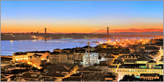 Muursticker  Panorama  of Lisbon Portugal - Fine Art Images