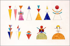 Gallery print  Sketch for picture XVI, The Great Tower of Kiev - Wassily Kandinsky