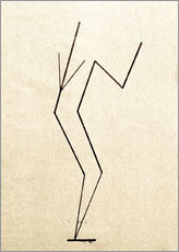Muursticker  Analytical drawing after photos of dancing?.. - Wassily Kandinsky