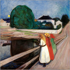 Canvas print  Girls on the pier - Edvard Munch