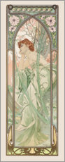 Canvas print  Times of the Day - Evening Contemplation - Alfons Mucha