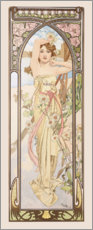 Hout print  Times of the Day - Brightness of Day - Alfons Mucha