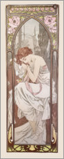 Hout print  Night's rest, times of the day series - Alfons Mucha