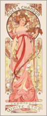 Gallery print  Moet & Chandon, White Star, rose - Alfons Mucha