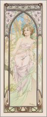 Aluminium print  Éveil du Matin - The morning - Alfons Mucha