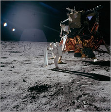 Muursticker  Apollo 11 Moon Walk - Stocktrek Images