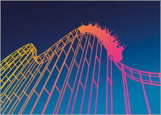 Muursticker  rollercoaster - David Fairfield