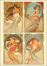Gallery print  The Four Arts - Collage - Alfons Mucha