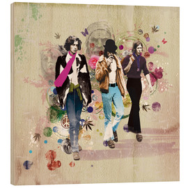 Hout print  Hippies - Rob Hare