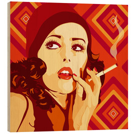 Hout print  Your 20s to 60s Girl - JASMIN!