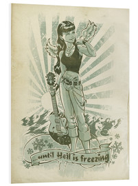 PVC print  Until hell freezes - Jan Meininghaus
