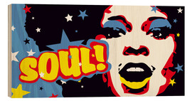 Hout print  Soul! for the funky world - JASMIN!