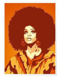 Premium poster  70s orange soul mom - JASMIN!