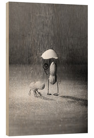 Hout print  Simple Things - Bad Weather - Nailia Schwarz