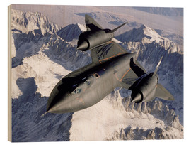 Hout print  SR-71B Blackbird in Flight - Stocktrek Images