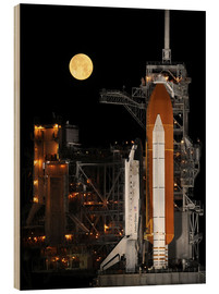 Hout print  Space shuttle Discovery - Stocktrek Images