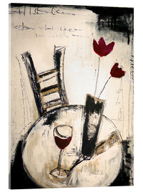 Acrylglas print  A glass of wine - Christin Lamade