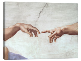 Canvas print  De schepping van Adam (detail) - Michelangelo