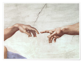 Premium poster  The Creation of Adam (detail) - Michelangelo