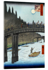 Acrylglas print  Kyoto bridge by moonlight - Utagawa Hiroshige
