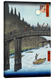 Canvas print  Kyoto bridge by moonlight - Utagawa Hiroshige